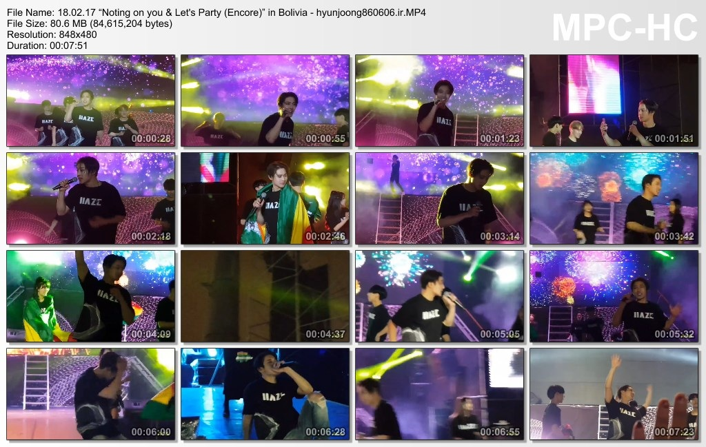 """18.02.17 """"Noting on you & Let's Party (Encore)"""" in Bolivia - hyunjoong860606.ir"""