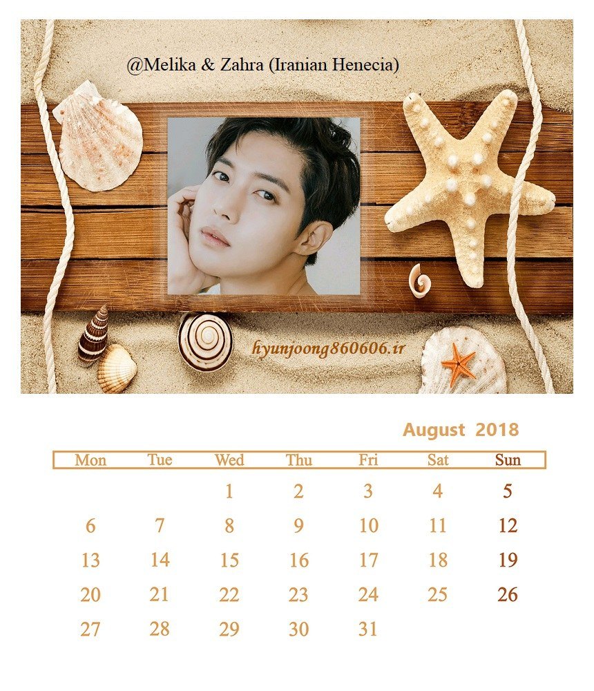 Calendar of August 2018 - Fanart by Melika and Zahra