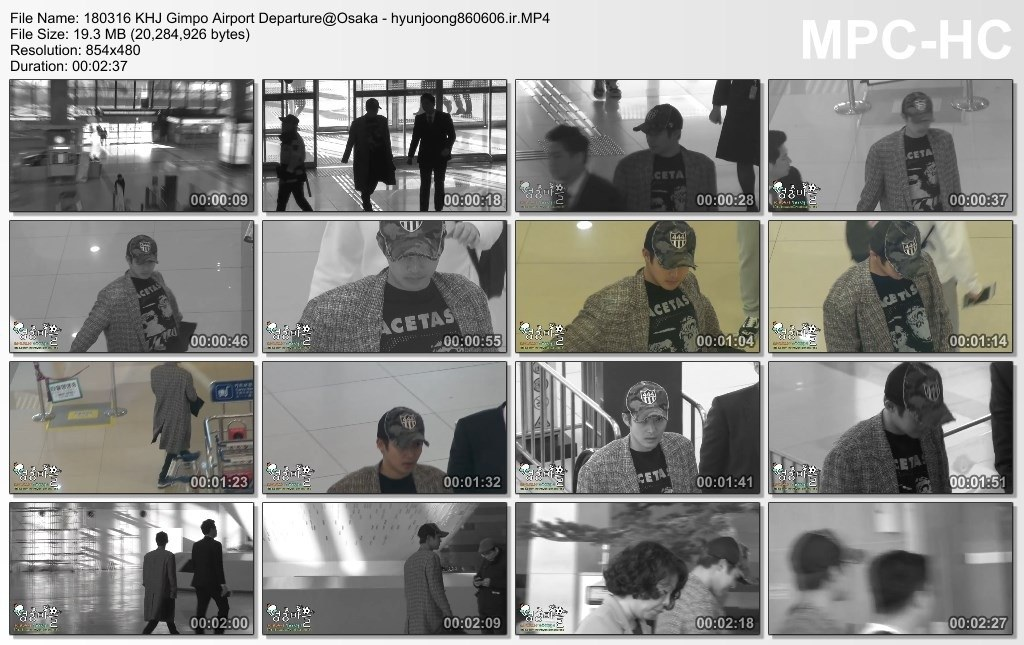 [Fancam] Kim Hyun Joong at Gimpo airport heading to Osaka [2018.03.16]