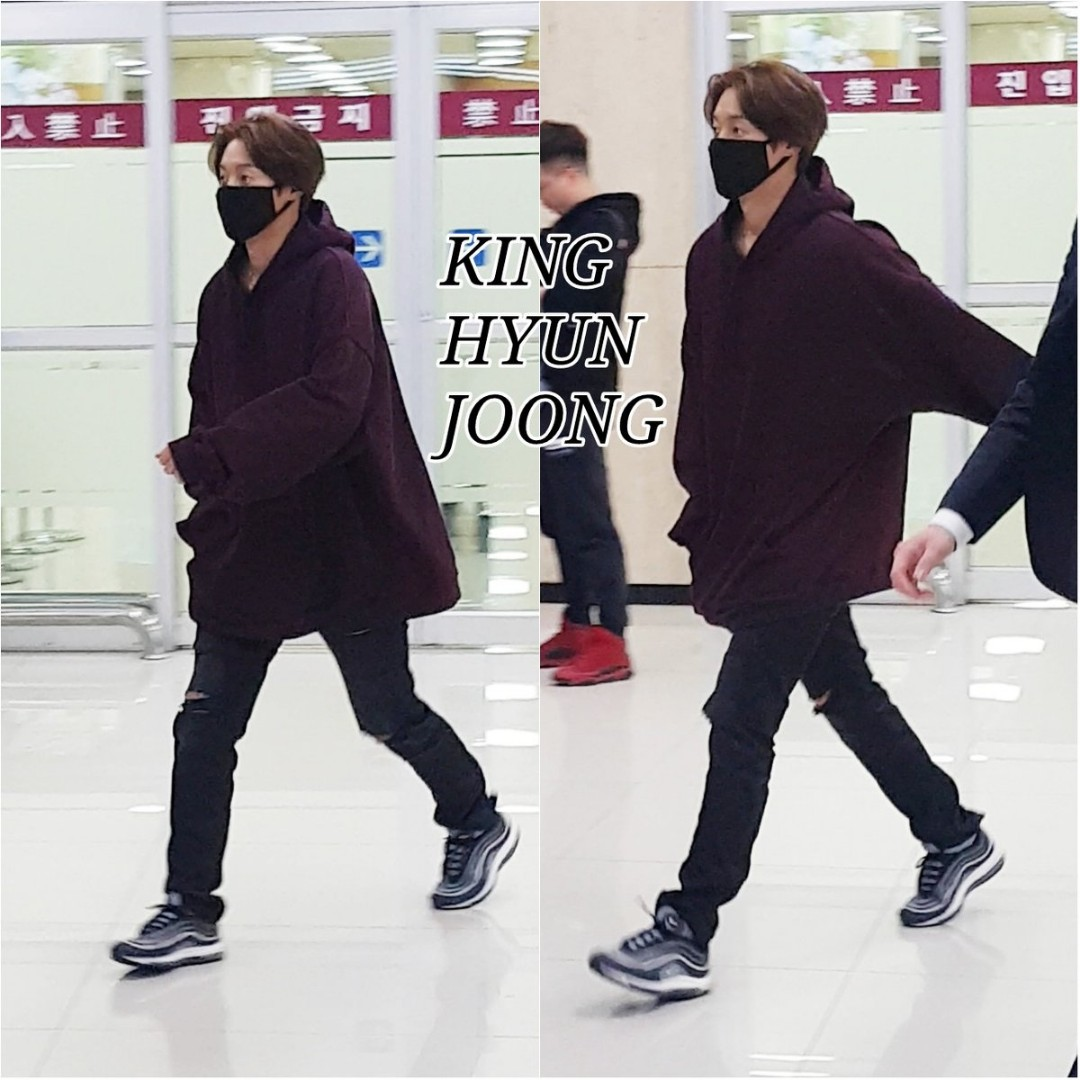 [King Hyun Joong Fanpics+Fancam] Kim Hyun Joong Arrived in Gimpo airport [2018.03.19]
