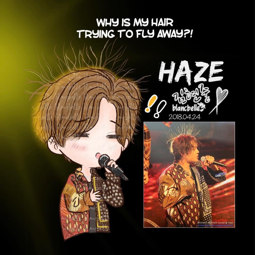 [Blancbelle Fanart] Kim Hyun Joong - Why is my hair trying to fly away [2018.04.24]