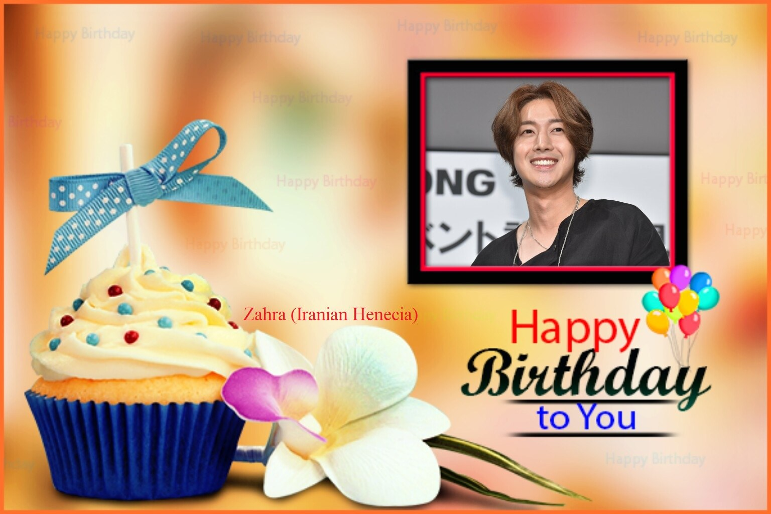 (My Fanart from Happy 32th Birtday of KHJ (2