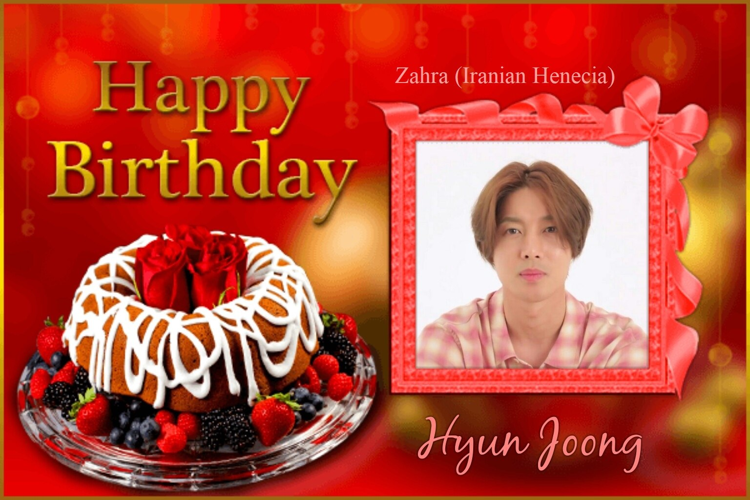 (My Fanart from Happy 32th Birtday of KHJ (8