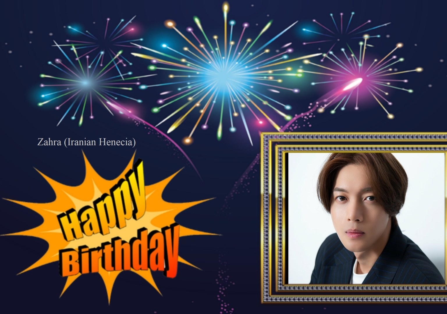 (My Fanart from Happy 32th Birtday of KHJ (18