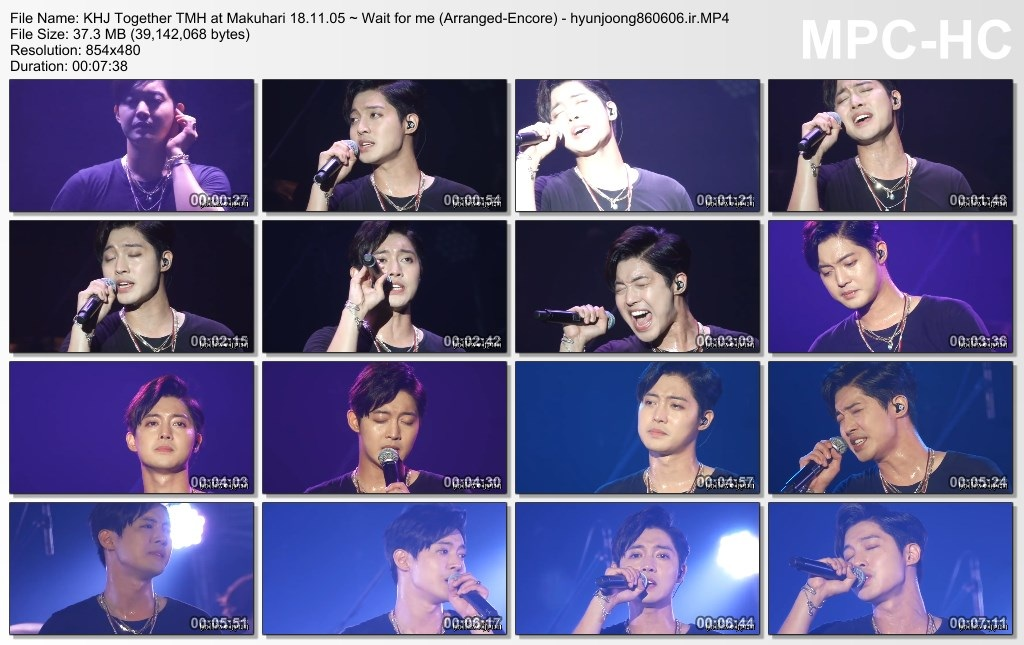 KHJ Together TMH at Makuhari 18.11.05 ~ Wait for me (Arranged-Encore) - hyunjoong860606.ir
