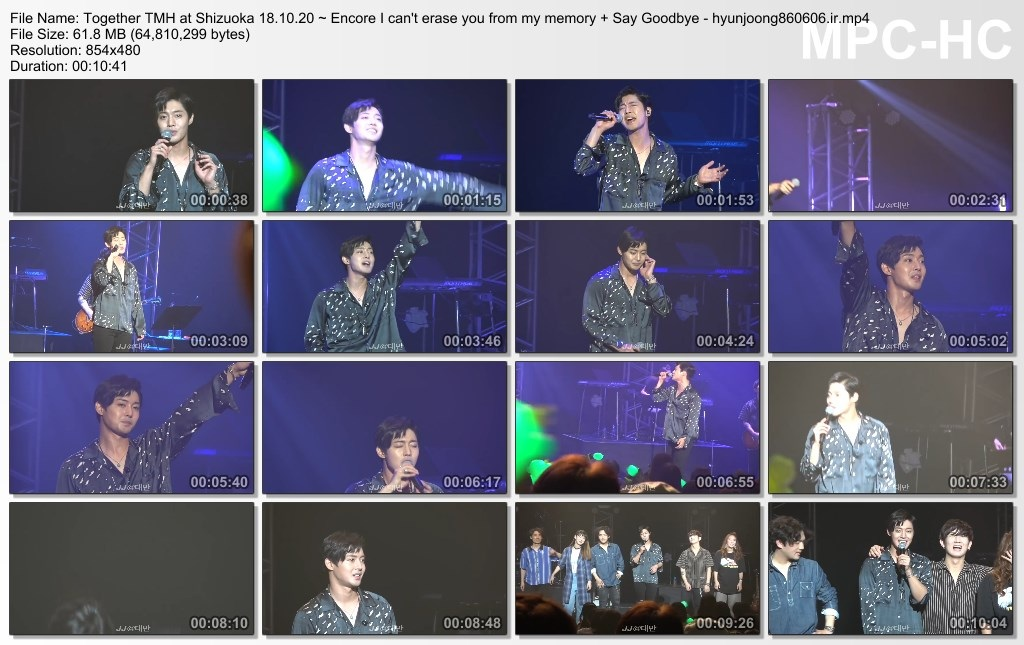 Together TMH at Shizuoka 18.10.20 ~ Encore I can't erase you from my memory + Say Goodbye - hyunjoong860606.ir