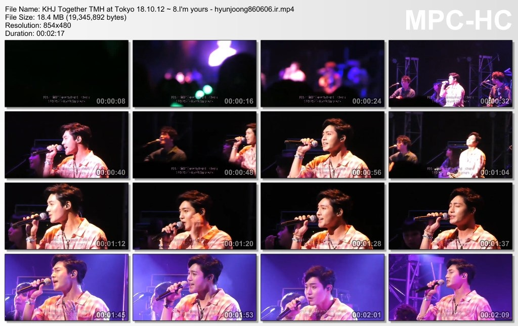 KHJ Together TMH at Tokyo 18.10.12 ~ 8.I'm yours - hyunjoong860606.ir