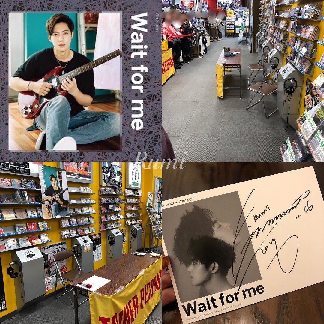 [Fanpics] Kim Hyun Joong Wait for me Fansign Event at Tower Records Sendai PARCO store [2018.10.16]