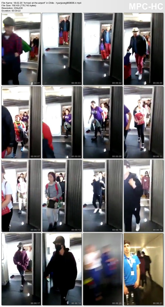 """18.02.20 """"Arrived at the airport"""" in Chile - hyunjoong860606.ir"""