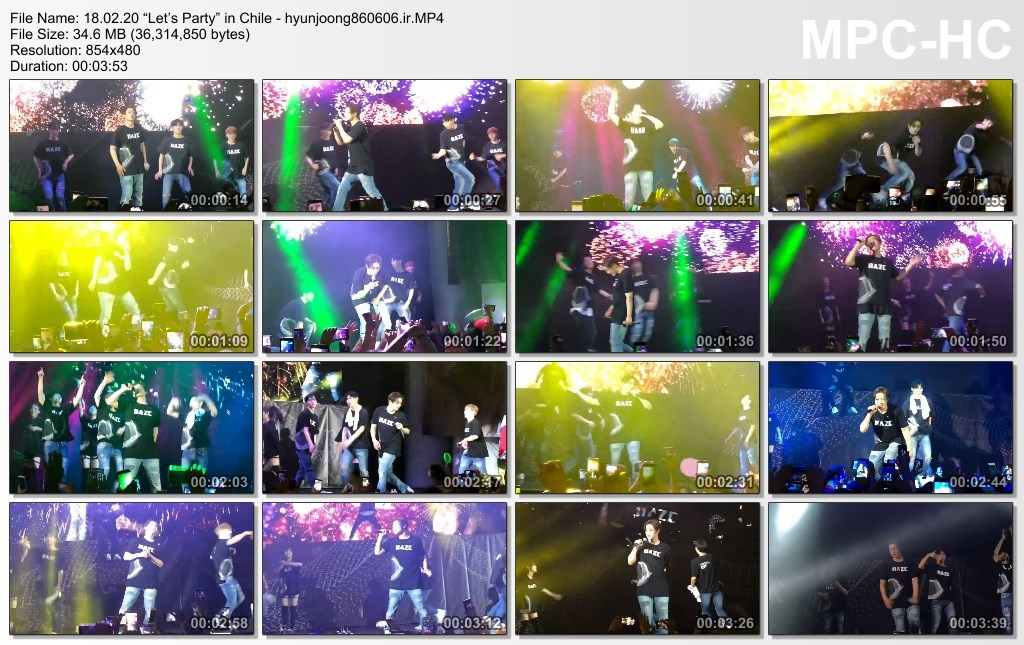"""18.02.20 """"Let's Party (Encore)"""" in Chile - hyunjoong860606.ir"""