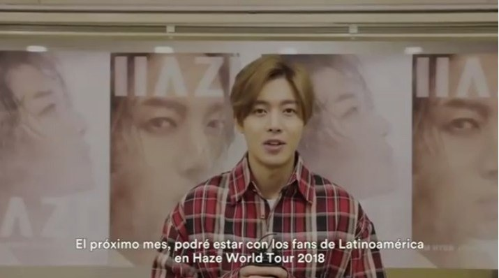 Kim Hyun Joong Message for His Haze World Tour in Latin America 2018.01.24
