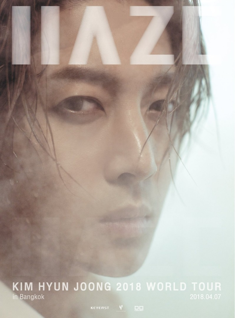 Kim Hyun Joong Haze 2018 World Tour in Bangkok ~ Saturday, April 7 at 6 pm in Scala Theater