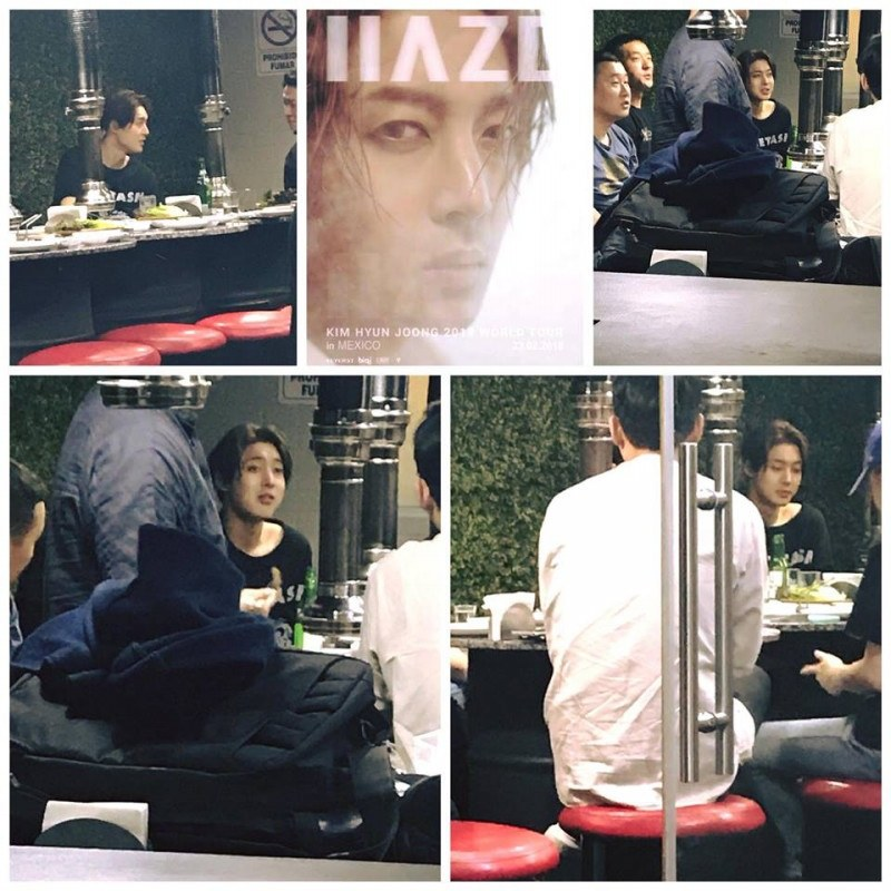 After the concert, Hyun Joong went with his team to dinner