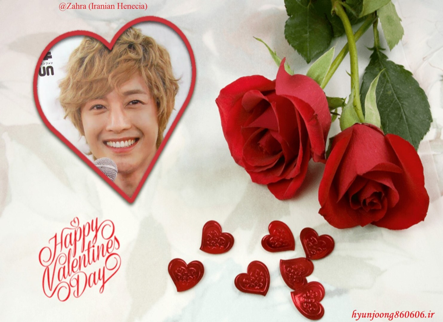 My Fanart of Happy Valentine Day 2018 to Hyun Joong and Henecia