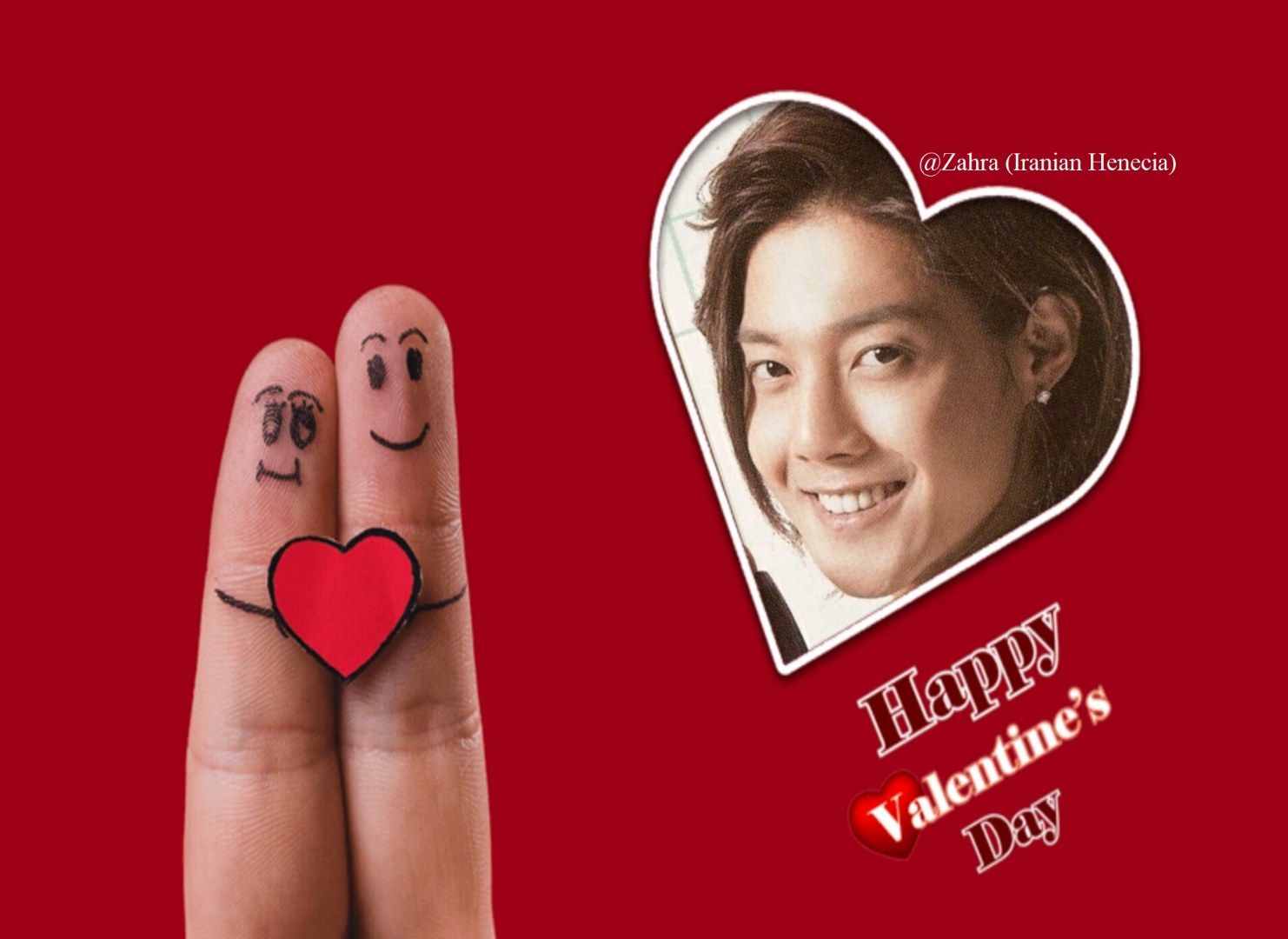(My Fanart of Happy Valentine Day 2018 to Hyun Joong & Henecia (2