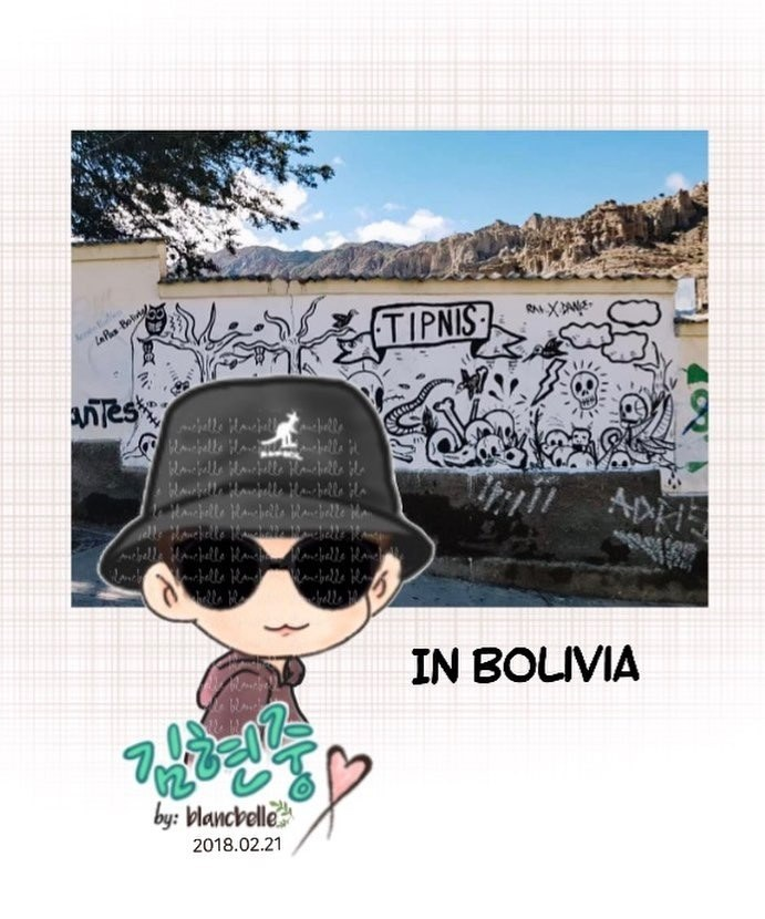 [blancbelle Fanart] Kim Hyun Joong ~ Thank you to all the Latin American Henecia. Let's rock Mexico together [2018.02.21]