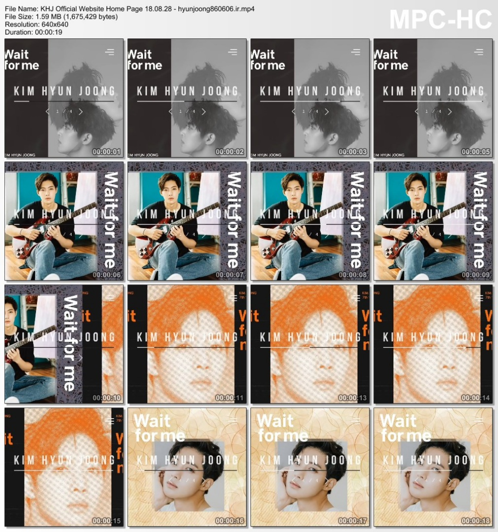 KHJ Official Website Home Page 18.08.28 - hyunjoong860606.ir