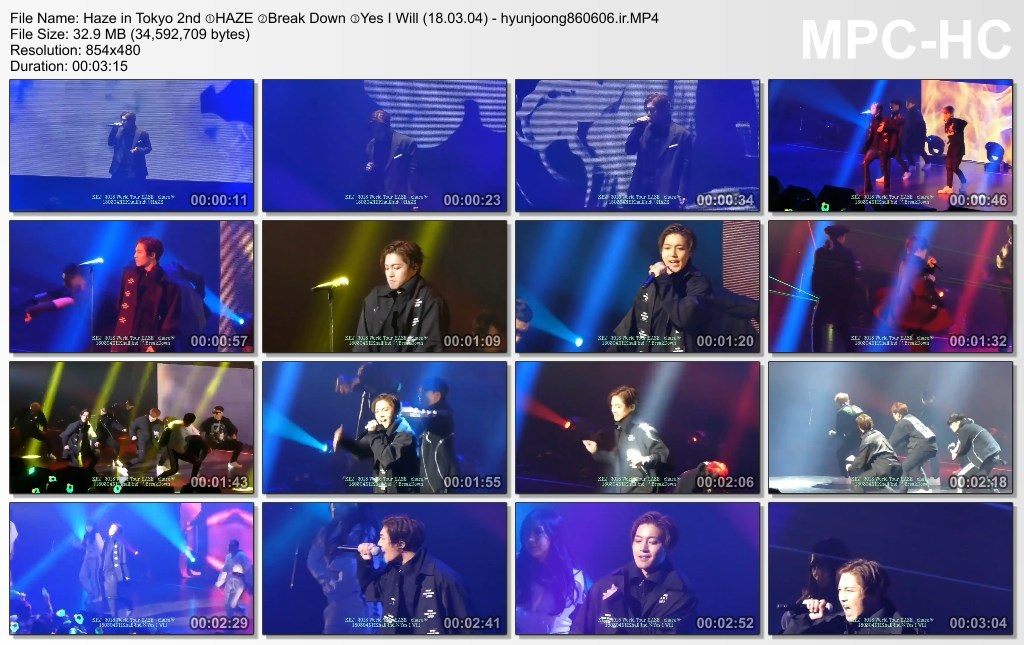 Haze in Tokyo 2nd ①HAZE ②Break Down ③Yes I Will (18.03.04) - hyunjoong860606.ir