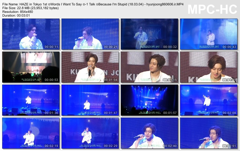 HAZE in Tokyo 1st ⑫Words I Want To Say ⑫-1 Talk ⑬Because I'm Stupid (18.03.04) - hyunjoong860606.ir