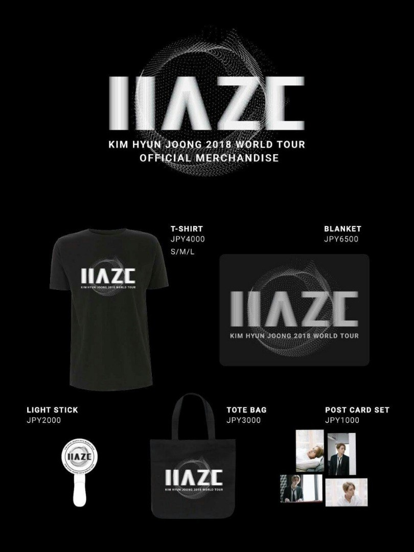 Kim Hyun Joong 2018 World Tour HAZE Official Merchandise 2018.03.01