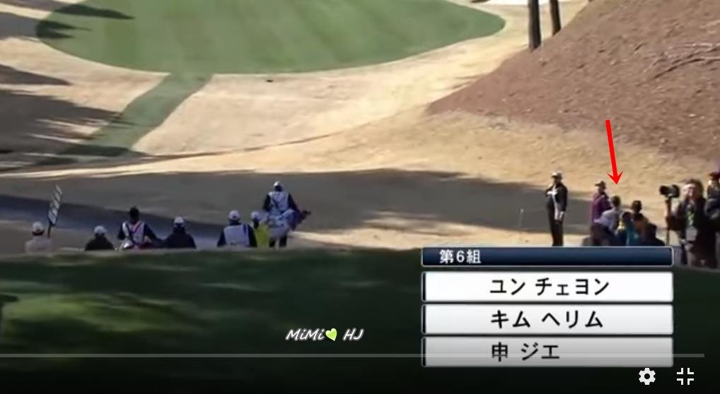 (HJ in golf competition on Japan TV (1