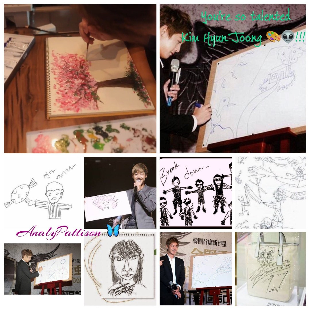 Kim Hyun Joong Painting works collection