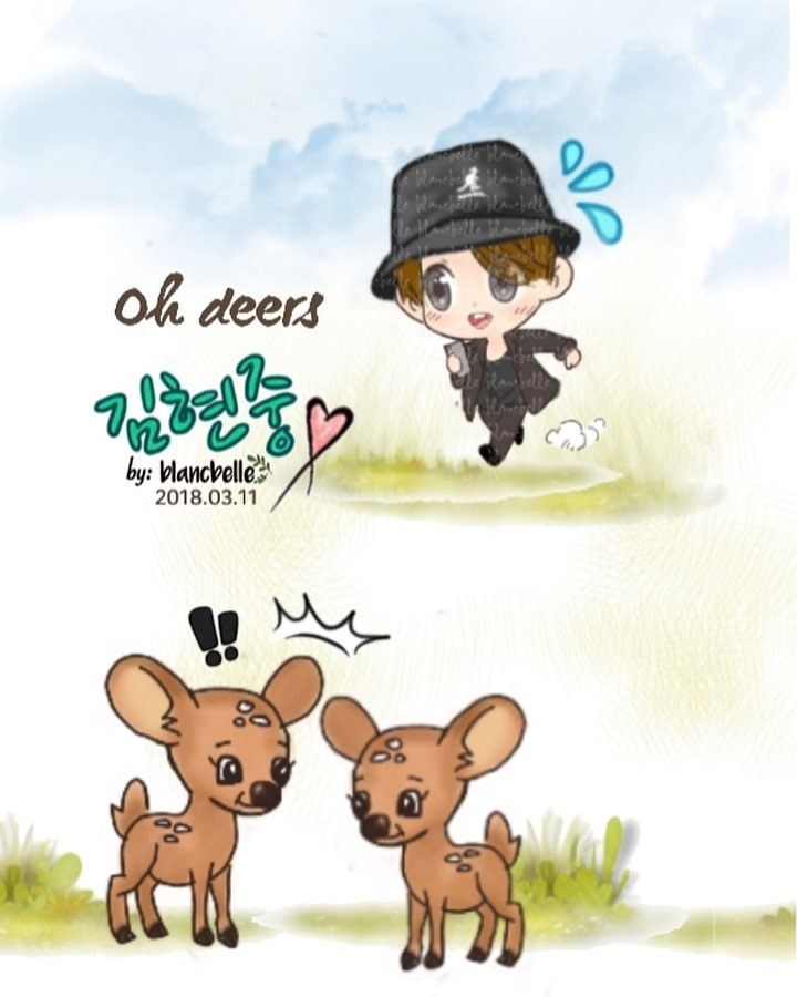 [blancbelle Fanart] Kim Hyun Joong ~ The picture in my head after watching your deer cam [2018.03.11]