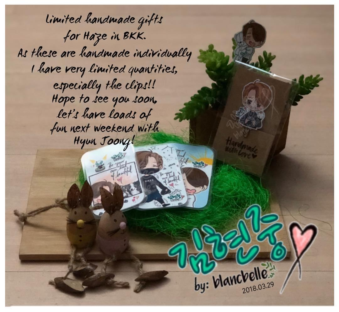 [blancbelle Fanart] Limited handmade gifts for Haze in BKK for those Henecians I happen to meet [2018.03.29]