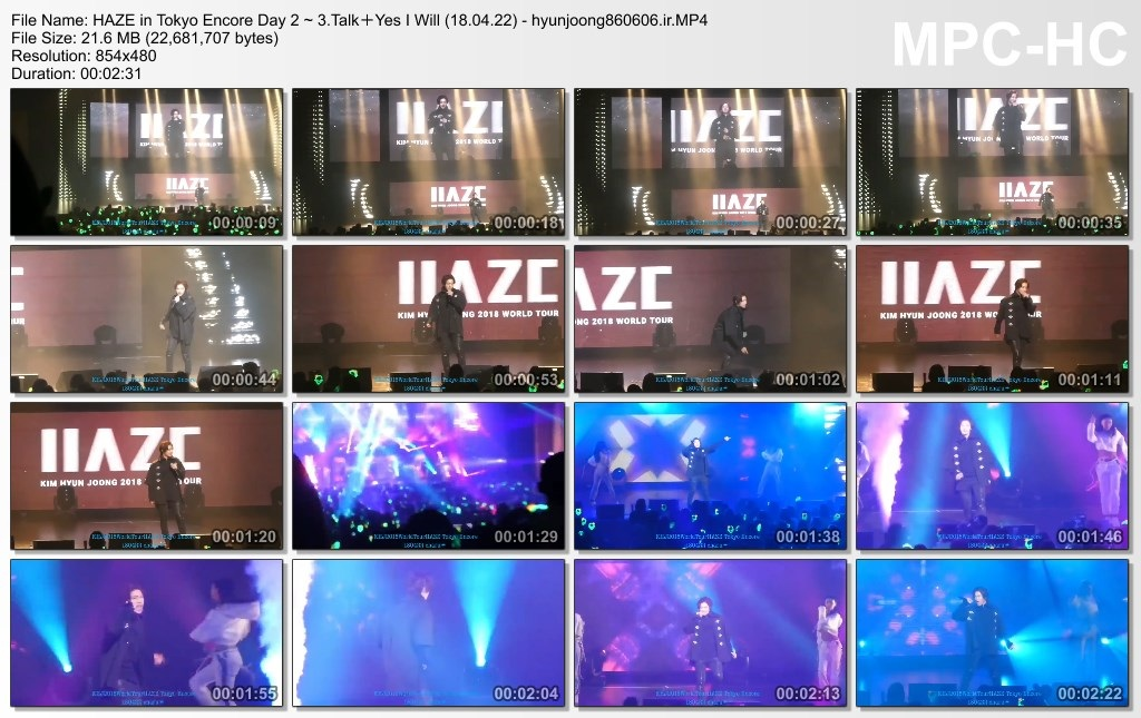 HAZE in Tokyo Encore Day 2 ~ 3.Talk+Yes I Will (18.04.22) - hyunjoong860606.ir