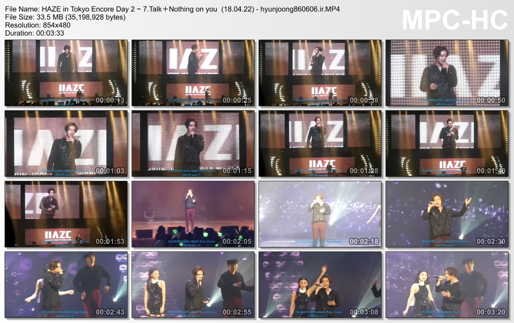 HAZE in Tokyo Encore Day 2 ~ 7.Talk+Nothing on you  (18.04.22) - hyunjoong860606.ir