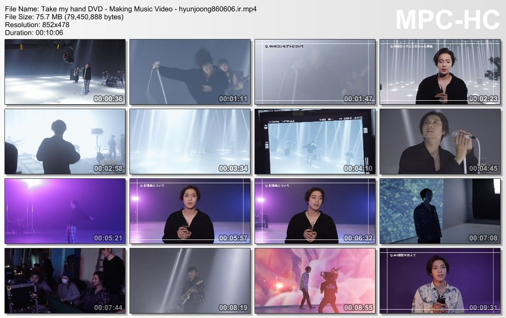 Тake my hand DVD - Making Music Video - hyunjoong860606.ir