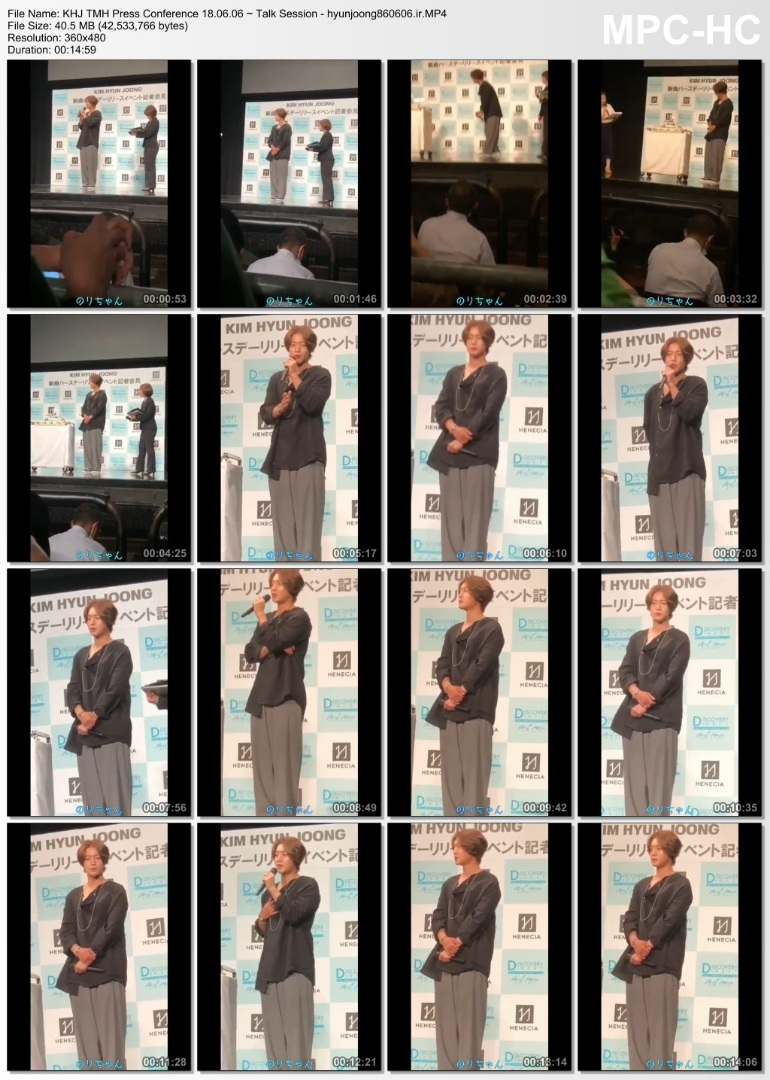 KHJ TMH Press Conference 18.06.06 ~ Talk Session - hyunjoong860606.ir
