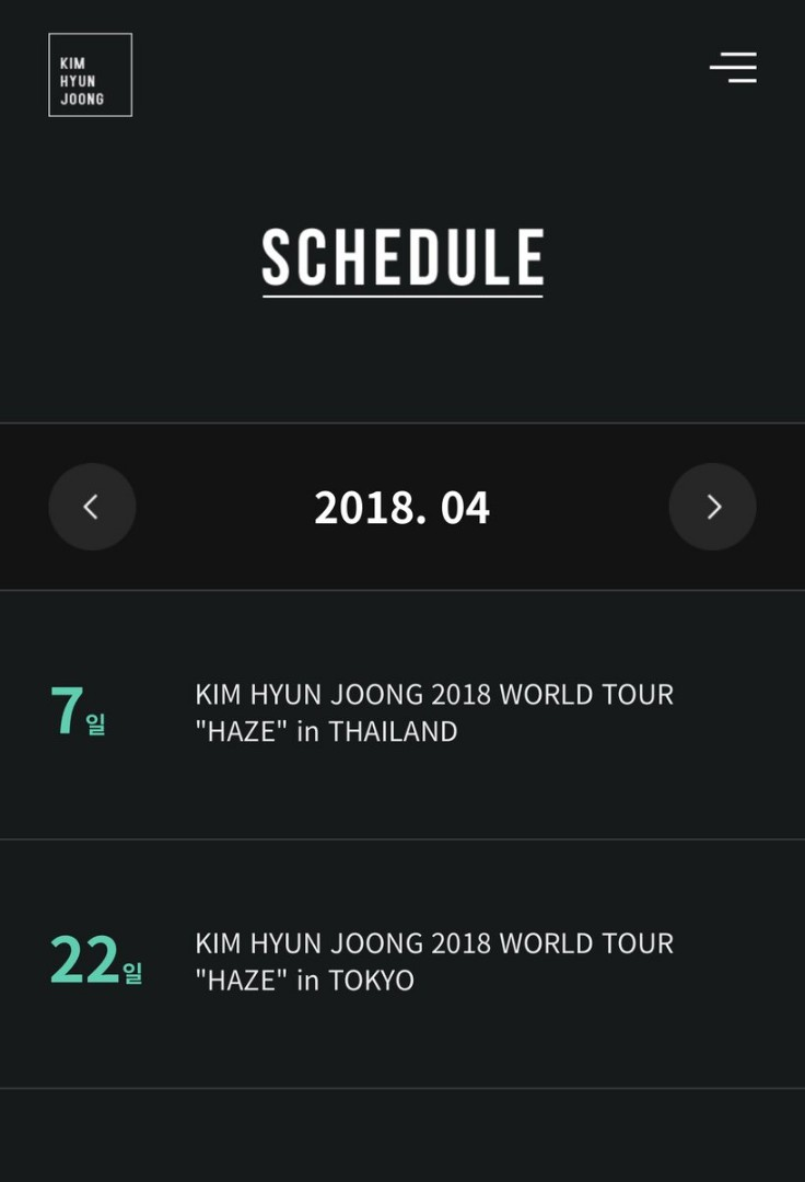 KHJ Official Site Schedule 04