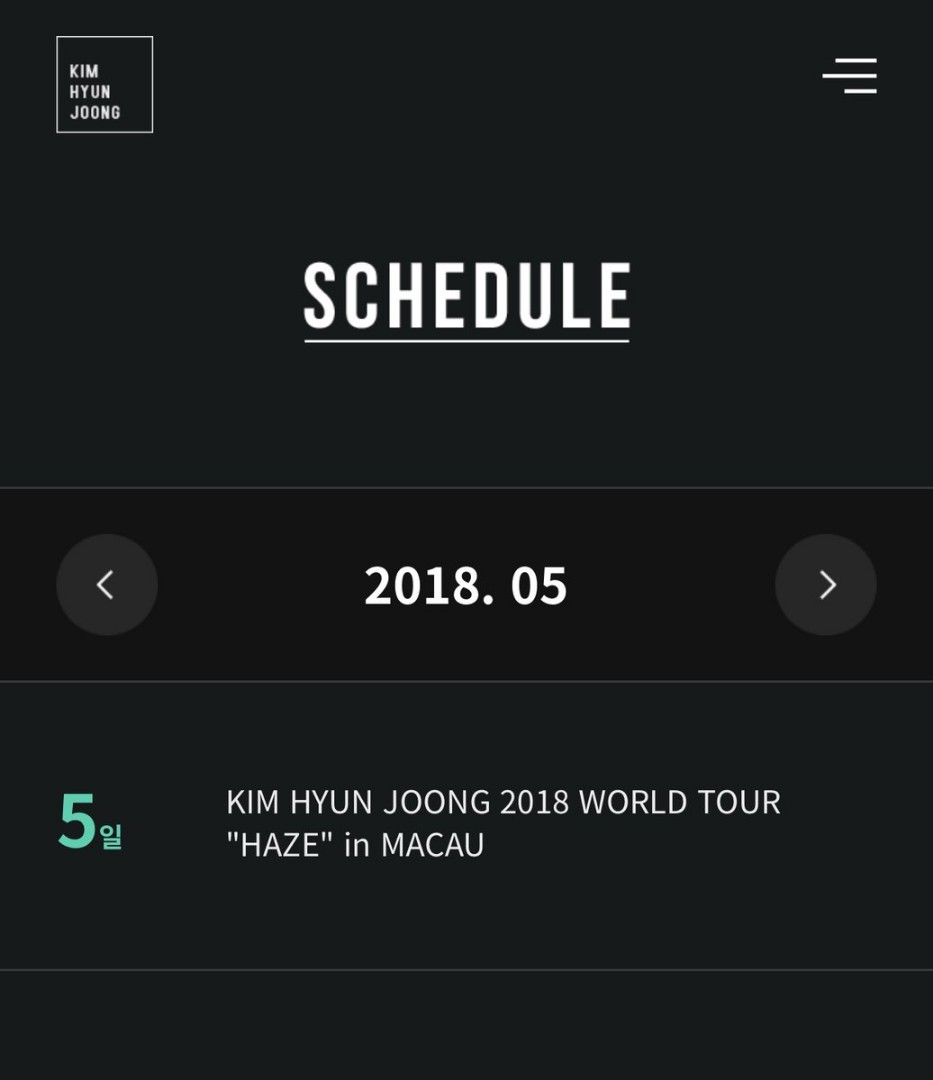 KHJ Official Site Schedule 05