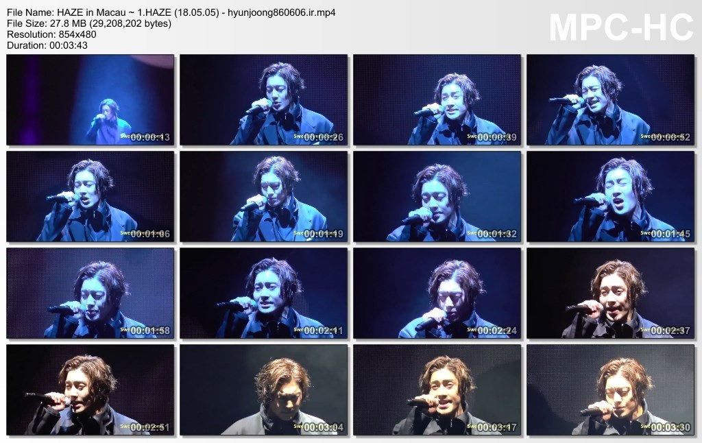 "[Fancams] Kim Hyun Joong 2018 World Tour ""HAZE"" in Macau at Broadway Theater [2018.05.05]"