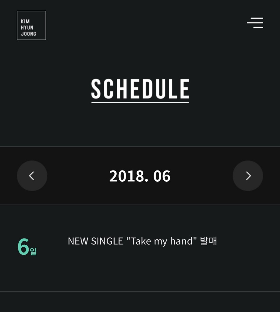 [KHJ Official Site Schedule] 06.06 New Single Take my hand Release [2018.05.08]