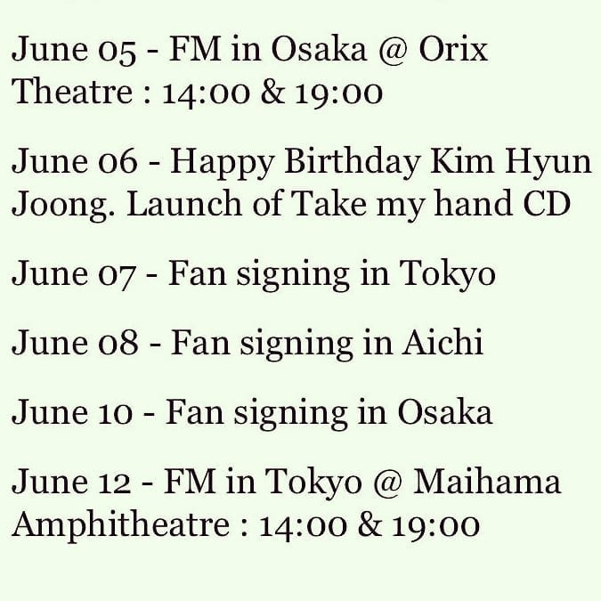 KHJ schedule on June