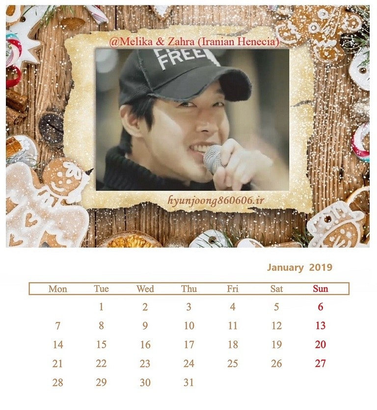 Calendar of January 2019 - Fanart by Melika and Zahra